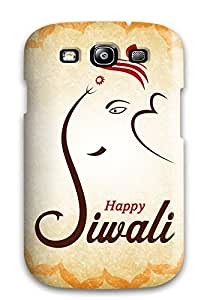 Premium Tpu Happy Diwali Cover Skin For Galaxy S3