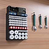 EBL Wall Mount Battery Storage Organizer With