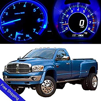 ROADFAR LED Light Kits Blue Instrument Panel Gauge Cluster Dashboard Lights fit for 2002-2006 Dodge Ram 1500,30Pcs