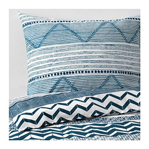 IKEA Provinsros Duvet Cover and Pillowcases White Blue Size: King - Cover Duvet Size Ikea King