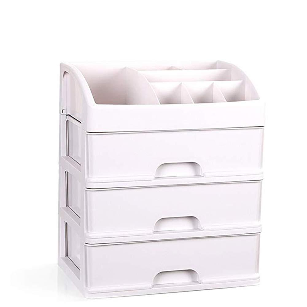 YANHTSO Caja de de de Almacenamiento de Escritorio Tocador Cuidado de la Piel Caja de Acabado de joyería Baño Dormitorio Caja de Almacenamiento de cajones de múltiples Capas cf9b62