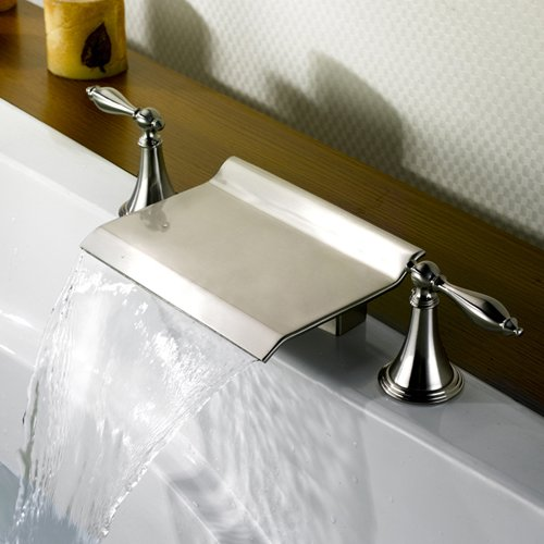 Lightinthebox Brushed Nickel Waterfall Faucet Pull Down
