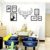 Home@Wall photo frame Photo Frame Sets,Living Room Photo Frame Wall Creative Combination Sofa Background Frames Sets Of 6/9 ( Size : 9frames/197.579.5CM )