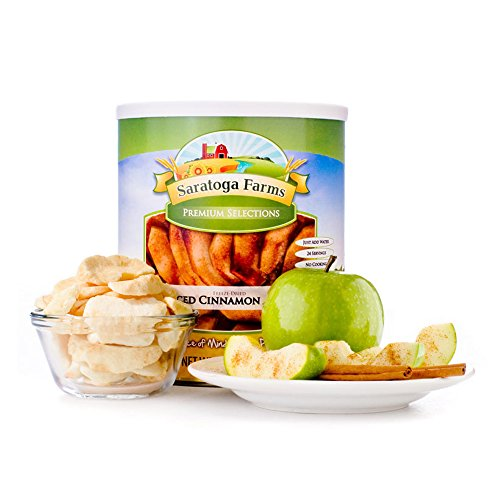 Saratoga Farms Freeze Dried Cinnamon Apple Slices, #10 Can, 10oz (283g), Real Fruit, Fruit Smoothies, Food Storage, Every Day Use Cinnamon Apple Slices