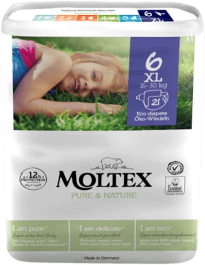 tama/ño 1-6 Pa/ñales Moltex Pure /& Nature Talla:SIZE 2 MINI