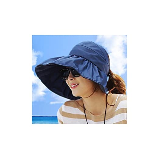 241478b3d24 Image Unavailable. Image not available for. Color  Summer Korean Style  Topless Foldable UV Women Sun Beach Hats Anti ...