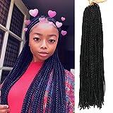 Best Hair For Crochet Braids - 20 Inch 8 Packs Long Box Braids Crochet Review