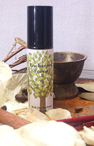 Enchanted Forest Roll On Perfume 10 ml, Fragrance Oil, Patchouli, Orange, Spikenard, Vanilla, Rose Petals, Aromatherapy, Roll On Oil
