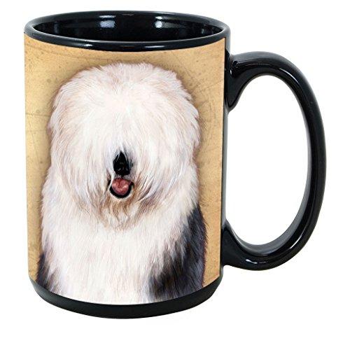 Imprints Plus Dog Breeds (E-P) Old English Sheepdog 15-oz Coffee Mug Bundle with Non-Negotiable K-Nine Cash (old english sheepdog ()