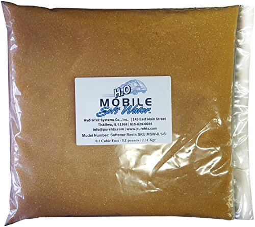 Mobile-Soft-Water Softener Resin(Cation) Ion-Exchange 0.1 Cubic Foot - 5.1 pounds / 2.31 Kgr