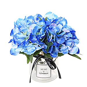Veryhome Artificial Hydrangea Flowers Silk Bouquet for Party Wedding Home Decor 17