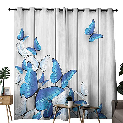 Butterflies Decoration Exclusive Home Curtains Butterflies On Wooden Background Timber Wall Table Board Traveling Lifestyle Wedding Party Home Window Decoration W84 xL84