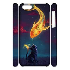 Custom New Case for Iphone 5C 3D, Fish love Phone Case - HL-R686819