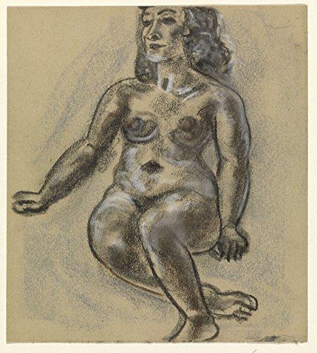 "Classic Art Poster - Seated female nude, Leo Gestel, 1891 - 1941 21.5"" x 24"""