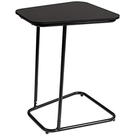 Pleasant Doeworks Bedside Computer Desk Black Side Table Slide Under Sofa Side Table Metal Slats Snacks And Laptop Tray Gmtry Best Dining Table And Chair Ideas Images Gmtryco