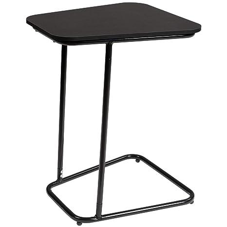 Amazon Com Doeworks Bedside Computer Desk Black Side Table Slide