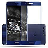 Plus 3D Curved Edge CP+ MAX Full coverage Anti-explosion Tempered Glass Screen Protector for Huawei Honor 8 - Sapphire Blue