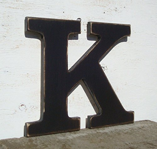 pick ANY letter of alphabet K 10 inch or 14 inch painted wood letter pick your color