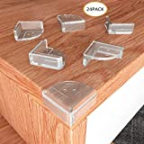 Convallaria Christmas Baby Proofing Safety Corner Guards High Resistant Adhesive Gel,Keep Child Safe and Stop Child Head Injuries for Chairs, Dressers, Cabinets, Hearths (24 Pack Smiling L Shape)