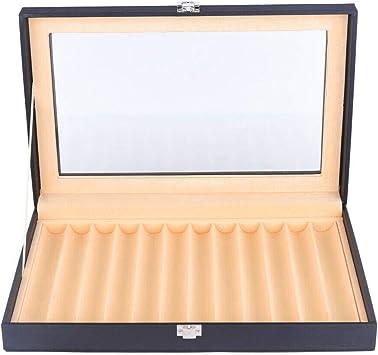 MOMOJA Caja expositora para bolígrafos caja de almacenamiento Vitrina Expositor para 12 pluma estilográfica: Amazon.es: Juguetes y juegos