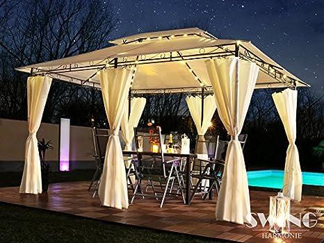 Swing & Harmonie Luxus LED - Pavillon 3 x 4 m Minzo - avec parois ...