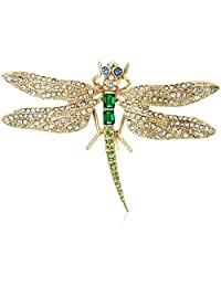 Betsey Johnson Pave Dragonfly Brooches and Pin