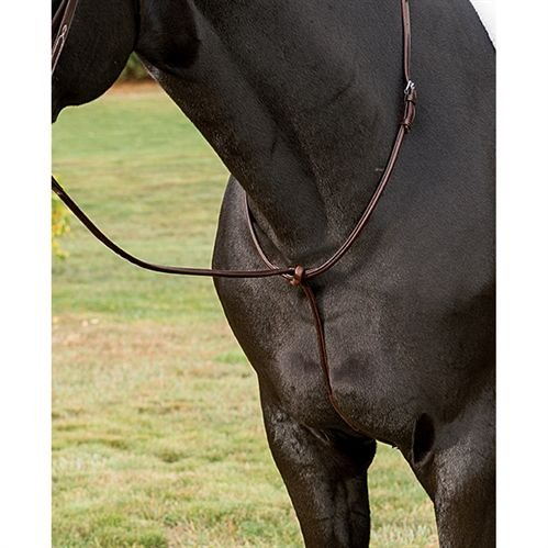Ovation Fancy Raised Standing Martingale - Size:Cob Color:Brown ()