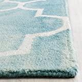 Safavieh Dip Dye Collection DDY535D Handmade Moroccan Vibrant Watercolor Turquoise and Ivory Wool Area Rug (2' x 3')