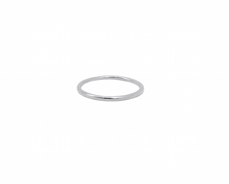 Bague de phalange anneau simple en argent massif