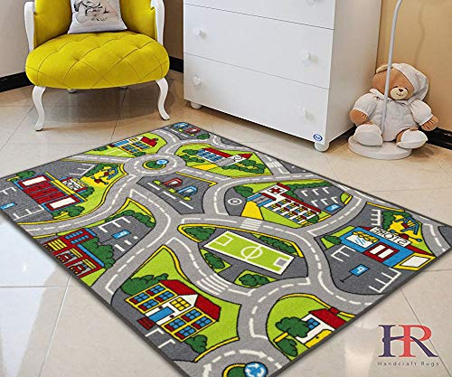 Amazon Com Kids Car Road Rugs City Map Play Mat For Classroom Baby