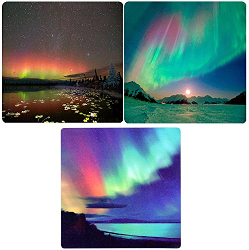 2 different Aurora Borealis - 3D Lenticular Maxi Magnet Card