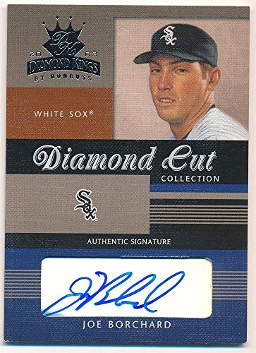 BIGBOYD SPORTS CARDS Joe BORCHARD 2003 DONRUSS Diamond Kings Cut Autograph White SOX AUTO SP /150 ()