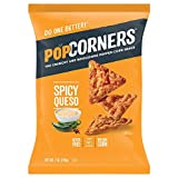 PopCorners Spicy Queso Snack | Gluten Free Snack | (12 Pack, 7 oz Snack Bags)
