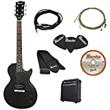 Gibson Innovations 6 String Maestro Single Cutaway Electric Pack, Black Ebony Full Size MELPBKCH1