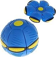 angwang Bola de brinquedo, bola de disco voadora UFO plana com luz de LED, brinquedo infantil ao ar livre jard