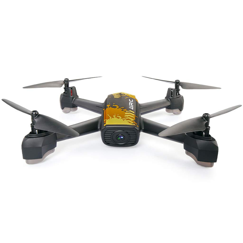 WANG XIN Professional Drone GPS Positioning Return Four-axis Aircraft 720P HD Aerial Remote Control Aircraft (Color : Yellow)