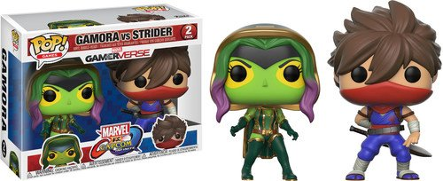 Pack Pop! Marvel Vs Capcom Infinite - 2 Figuras Gamora Vs Strider