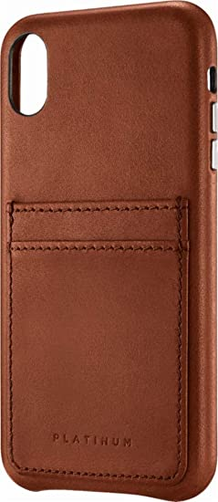 outlet store 84736 b45e2 Amazon.com: Platinum Leather Wallet Case for Apple iPhone Xs Max ...