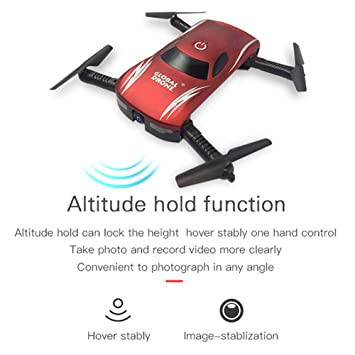 Jackeylove RC Drone con cámara, 720P HD FPV WiFi Control Remoto ...