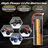 Youme 4S Lipo Battery, 14.8V Lipo 4S 6500mAh 60C