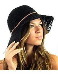 Open Knit Brown Braided Trim Vented Cotton Beach Sun Hat 8e75b0cc4a7
