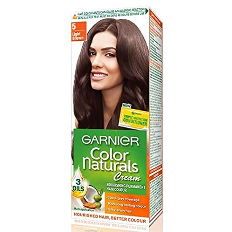 f0cae240005 Buy Garnier Colour Naturals Light Brown(Shade 5) - Pack of 2 Online at Low  Prices in India - Amazon.in