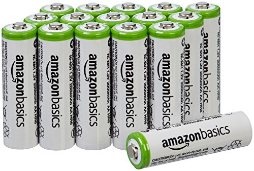 : AmazonBasics AA Rechargeable Batteries (16-Pack) - Packaging May Vary
