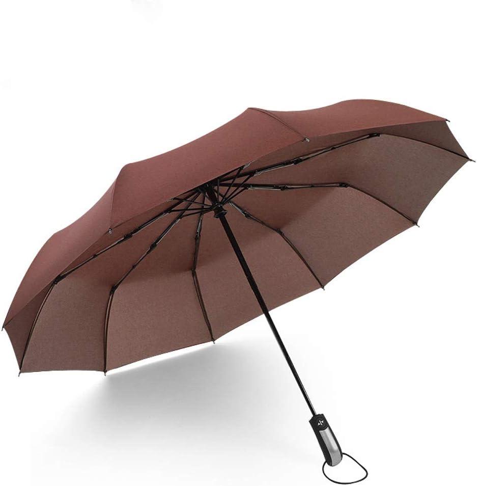 Automatic Travel Umbrella Windproof 3 Fold Compact Canopy for Rain Sun UV Protection