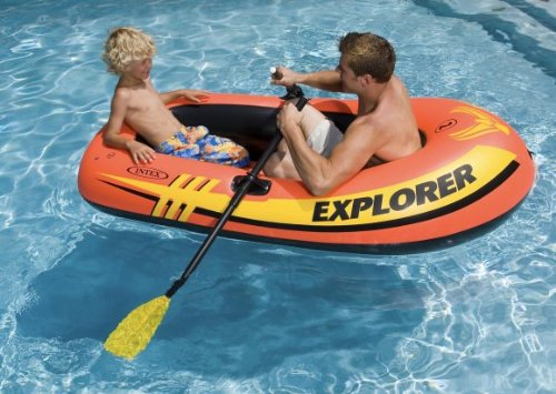 3) INTEX Explorer 200 Inflatable Two Person Raft Set