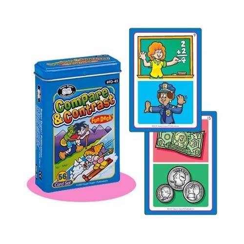 Compare and Contrast Fun Deck Cards - Super Duper Educational Learning Toy for Kids