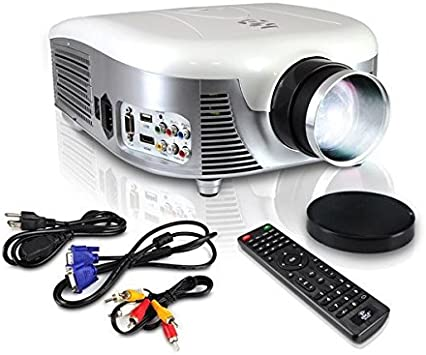 Pyle Video Projector Full HD 1080p - Widescreen Cinema Home Theater Projector, Built-in Stereo Speaker, Digital Multimedia, HDMI, USB & Adjustable ...