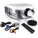 Pyle PRJD907 Widescreen,1080p HD Support,Up to 140-Inch Display LED Projector