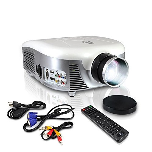 Pyle Video Projector Full HD 1080p - Widescreen Cinema Home Theater Projector, Built-in Stereo Speaker, Digital Multimedia, HDMI, USB & Adjustable Picture Projection for TV Computer & Laptop-(PRJD907)