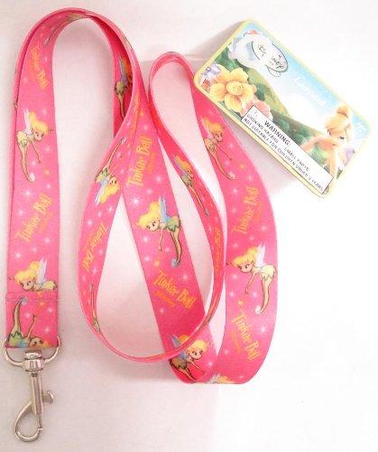 Disney Fairies Tinkerbell Pink Lanyard Key Chain Holder
